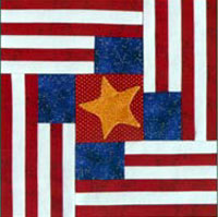Four Flags Quilt Block