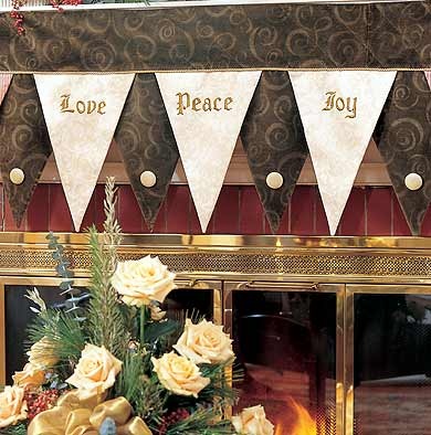 Love, Peace, and Joy Mantel Cloth