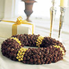 Pinecones and Bells Tabletop Wreath