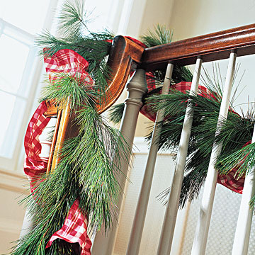 Pine and Ribbon Garland