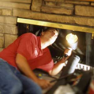 Inspecting and Cleaning a Fireplace or Stove