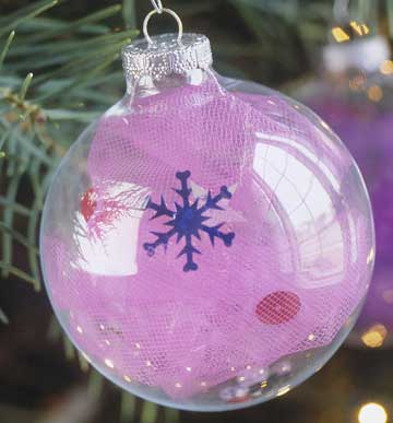 Tulle-Filled Ornament