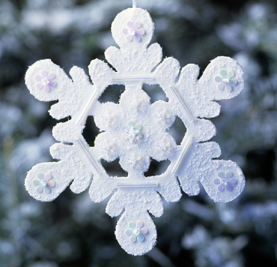 Winter Wool Snowflake Ornaments