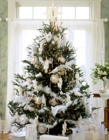 dreaming of a white christmas - Feather Christmas Trees