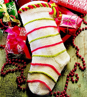 Christmas Stocking Loom Knitting Pattern : Knit Christmas Stocking