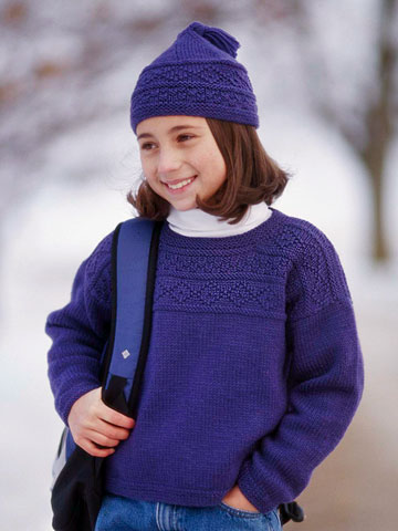 Knitted Guernsey Pullover and Cap