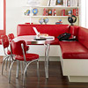 Family Banquette in Red