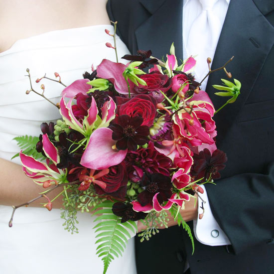 Pink & Red Wedding Bouquets