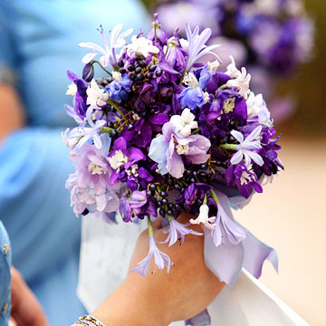 Purple & Blue Wedding Bouquets