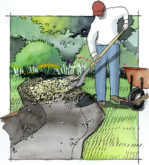Garden Project How to Create a Dry Creek from BHGcom