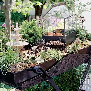 Miniature Garden Ideas fairy garden cottage A Walk In The Park Garden Ideas Magazine Honey I Shrunk The Garden
