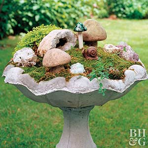 Home For A Gnome, Garden Ideas Magazine, Honey I Shrunk The Garden,  Miniature