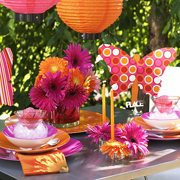 Colorful Contemporary Table Setting