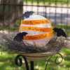 Halloween Greeting in a Birdbath