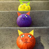 Colorful Cat Pumpkins