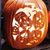 Carved 1 Stencil, 5 Jack-o'-Lanterns