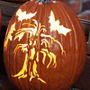 Carved Haunted Tree Stencil
