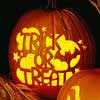 Carved Trick-or-Treat Stencil