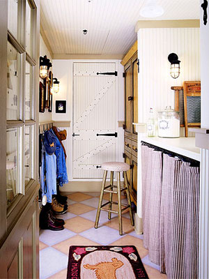 Storage-Smart Utility Room: Lessons in Storing Laundry Supplies, Hardware, and Coats