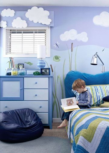 A Boy's Friendly Frog Room
