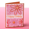 Pink Stitched Flower Card