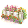 Bright Front-Yard Cottage Garden