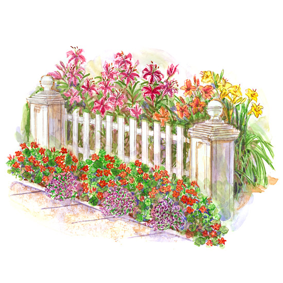 Easy front yard garden plan for Easy flower garden designs