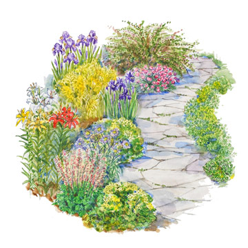 Along a Path Garden Plan