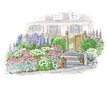 Colorful Front Entry Garden Plan 2
