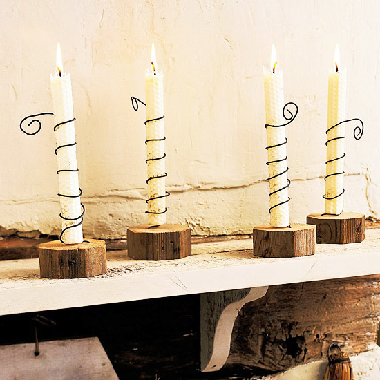 Rustic Wire Candle Holders