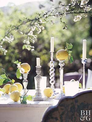 Summer Tablescape: Show Off Your Silver: Use Your Favorite Silver Pieces for Outdoor Entertaining