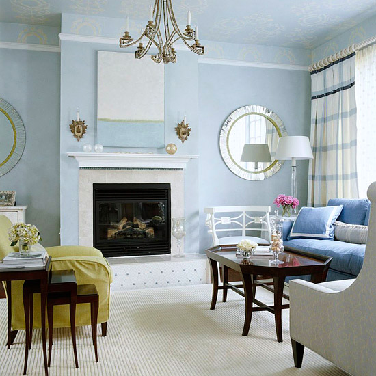 set the mood with color - Cool Colors For Living Room