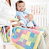Knitted Rainbow Baby Quilt