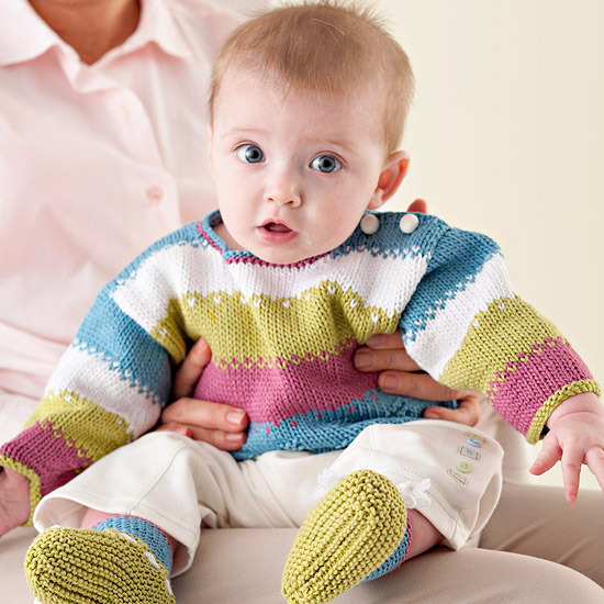 Striped Knitted Baby Set