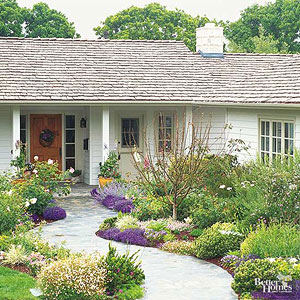 The architectural features of your yard will be the most expensive and  permanent. You may want to plan them in stages: the driveway first, good  steps and ...