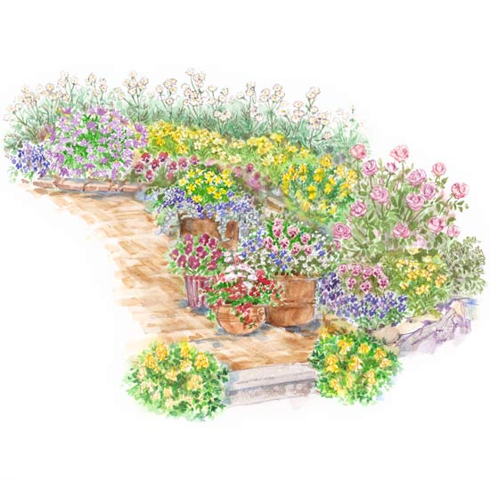 English victorian cottage garden plan for Victorian garden designs
