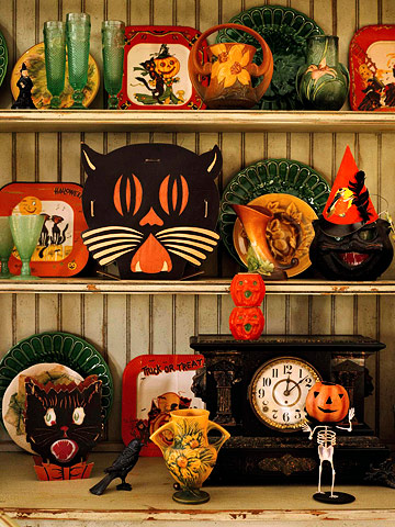collectible halloween decorating vintage and folksy halloween decor - Halloween Vintage Decorations