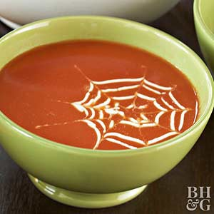 Spiderweb Soup Topping: An Easy Embellishment for Halloween