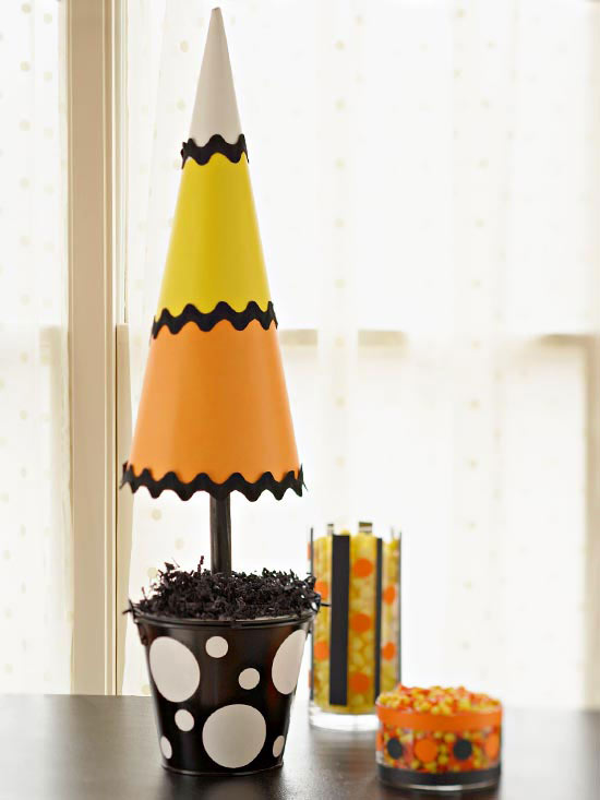 Candy Corn Topiaries