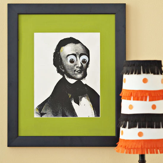 Fringed Halloween Lampshade