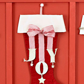 Make a Holiday Joy Stocking