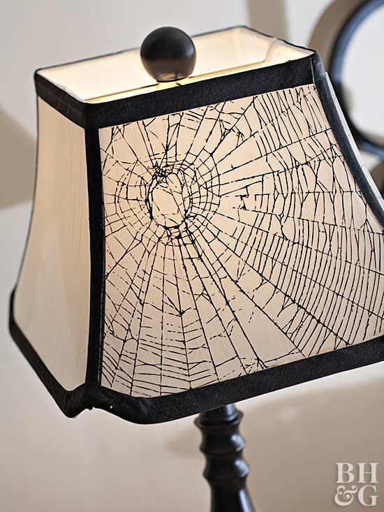 Hallowedding: Spiderweb Lampshade