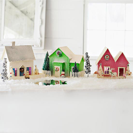 Craft a mini holiday village Better homes and gardens house painting tool