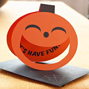 Easy-to-Make Pumpkin Party Invitation for Halloween