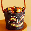 Papier-Mache Trick-or-Treat Container