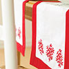 Red-and-White Snowflake Table Runner