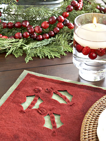 How to Make a Holiday Felt Place Mat