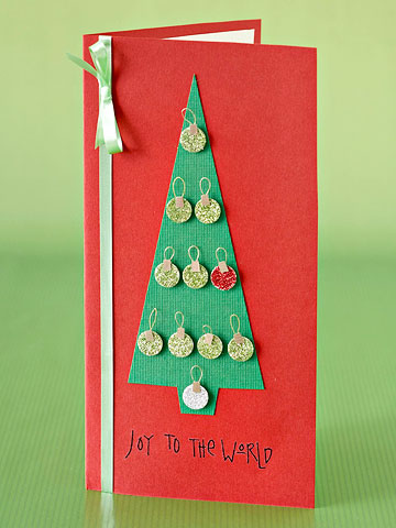 Make a Trimming-the-Tree Holiday Card