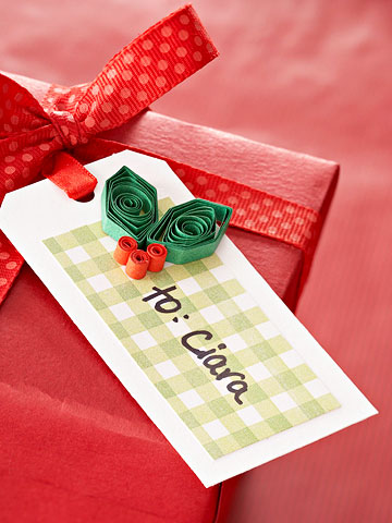 Make a Berry Happy Holiday Gift Tag