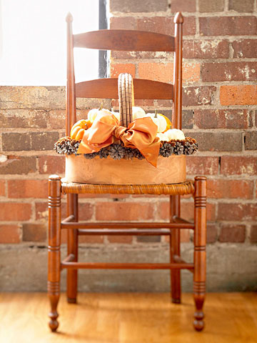 Make a Harvest Basket Arrangement